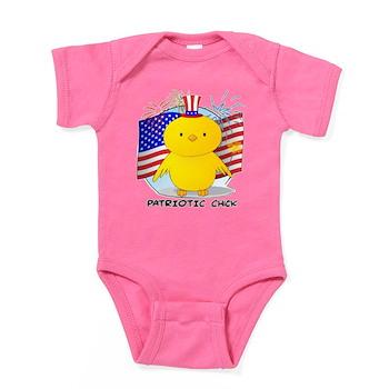 Patriotic Chick Baby Bodysuit