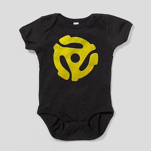 Yellow 45 RPM Adapter Baby Bodysuit