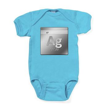 Silver (Ag) Baby Bodysuit