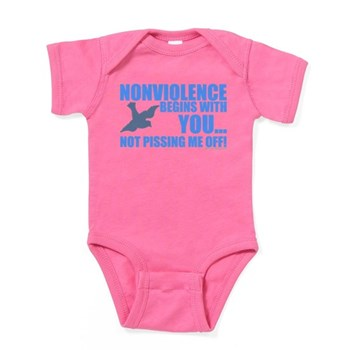 Nonviolence Begins with You.. Baby Bodysuit