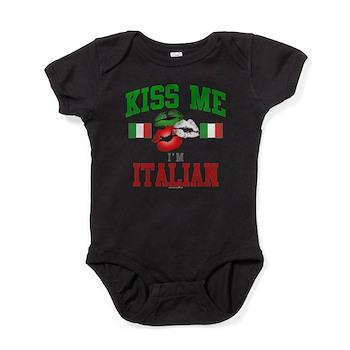 Kiss Me I'm Italian Baby Bodysuit