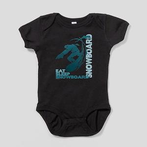 Eat Sleep Snowboard Baby Bodysuit