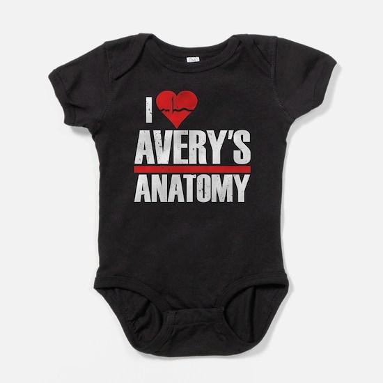 I Heart Avery's Anatomy Baby Bodysuit