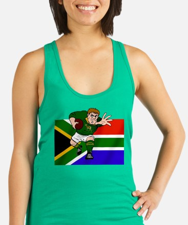 South Africa Rugby Forward Racerback Tank Top
