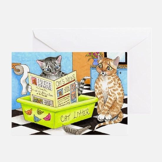 cat 464.jpg Greeting Card
