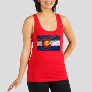 Colorado Vintage Flag Racerback Tank Top