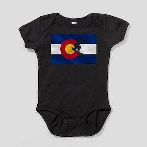 Colorado Snowboard Flag Baby Bodysuit