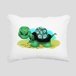 Toxic Turtle Rectangular Canvas Pillow