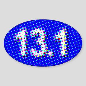 Super Unique 13.1 POP ART BLUE Sticker