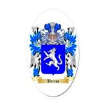 Breese Oval Car Magnet