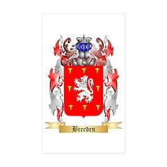 Breeden Sticker (Rectangle 50 pk)