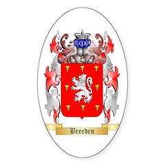Breeden Sticker (Oval 50 pk)