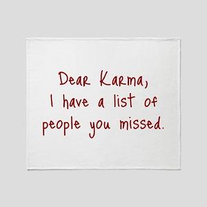 Karma List Throw Blanket