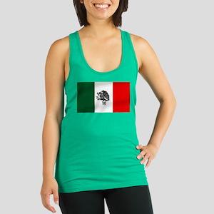 Mexican Soccer Flag Racerback Tank Top