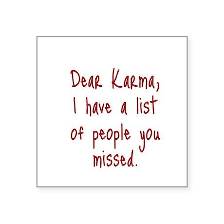 Karma List Sticker