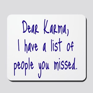 Karma List Mousepad