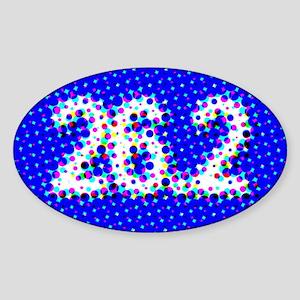 Super Unique 26.2 POP ART blue Sticker