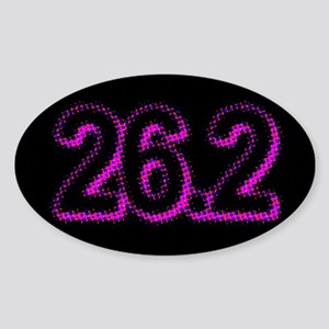Super Unique 26.2 POP ART pink color Sticker