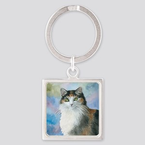 Cat 572 Calico Keychains