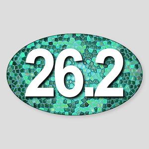 Super Unique 26.2 teal color version Sticker
