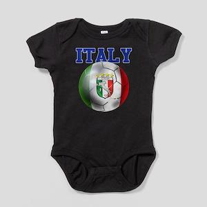 Italy Soccer Ball Baby Bodysuit