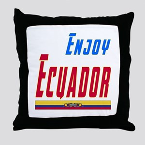 Ecuador Designs Throw Pillow