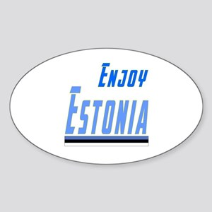 Estonia Designs Sticker (Oval)