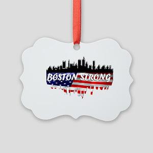 Boston Strong Marathon Picture Ornament