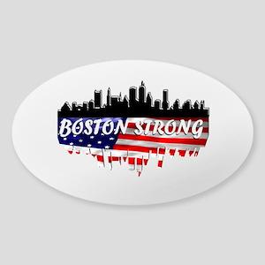 Boston Strong Marathon Sticker (Oval)