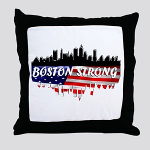 Boston Strong Marathon Throw Pillow