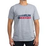 Run for Boston RWB Men's Fitted T-Shirt (dark)