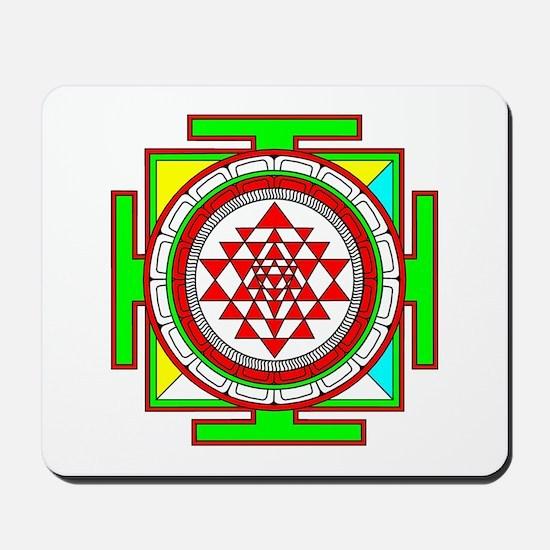 Sri Yantra (shree Yantra) deigned Mousepad