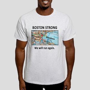 Boston Strong Map Light T-Shirt
