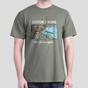 Boston Strong Map Dark T-Shirt
