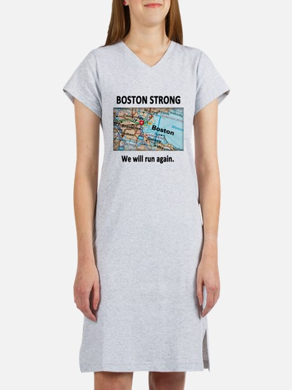 Boston Strong Map Women's Nightshirt