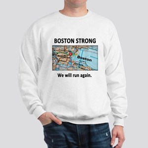 Boston Strong Map Sweatshirt
