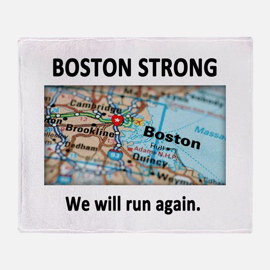 Boston Strong Map Throw Blanket