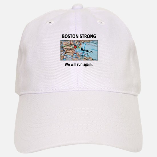 Boston Strong Map Baseball Baseball Cap