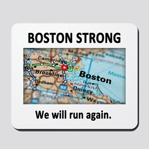 Boston Strong Map Mousepad