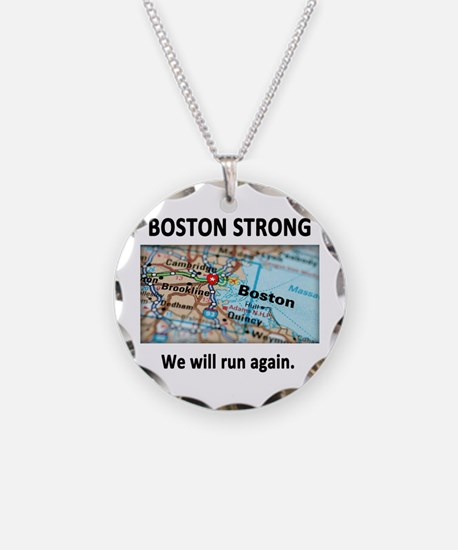Boston Strong Map Necklace