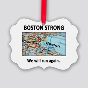 Boston Strong Map Picture Ornament