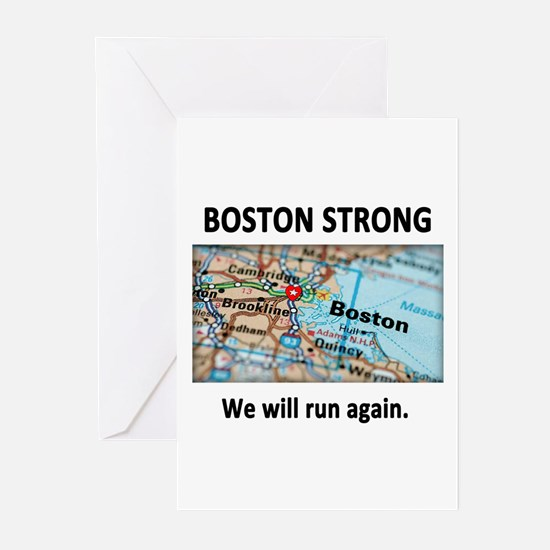 Boston Strong Map Greeting Cards (Pk of 10)