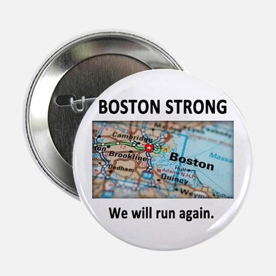 """Boston Strong Map 2.25"""" Button"""