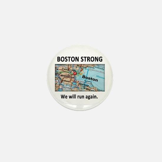 Boston Strong Map Mini Button