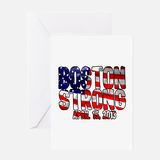 Boston Strong Flag Greeting Card