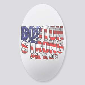 Boston Strong Flag Sticker (Oval)