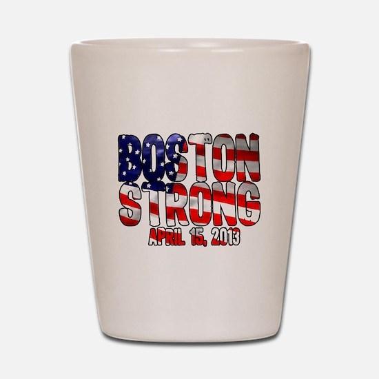 Boston Strong Flag Shot Glass