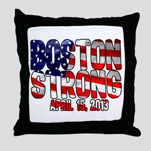 Boston Strong Flag Throw Pillow