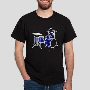Cool Drum Set (dark blue version) Dark T-Shirt