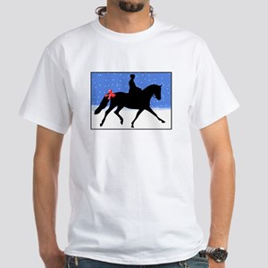 Christmas Dressage Horse White T-Shirt
